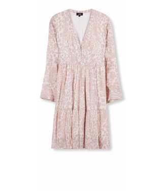 Alix Alix Woven Feather Animal Dress Pale Pink