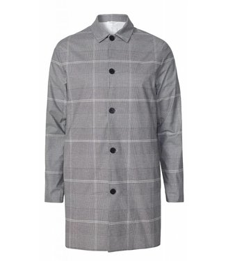 Les Deux Les Deux Lugano Mac Coat Grey Black