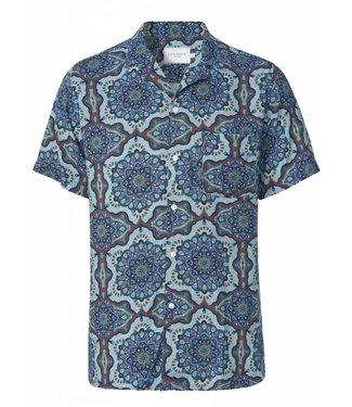 Les Deux Les Deux Psychedelique Shirt Placid Blue