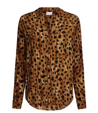 Fabienne Chapot Fabienne Chapot Lily Blouse Cheetah Brown/Black Cheetah