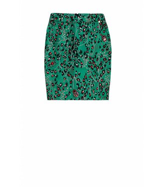 10 Feet 10 Feet, Knee length Skirt Luxurious Animal Jacquard Pine Green
