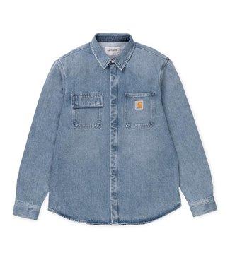 Carhartt Carhartt Salinac Shirt Jack Blue Light Stone Washed