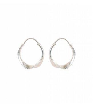 Anna + Nina Anna + Nina 021720S000 Twirl Hoop Earring Silver