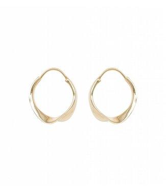 Anna + Nina Anna + Nina 021720GP000 Twirl Hoop Earring Goldplated