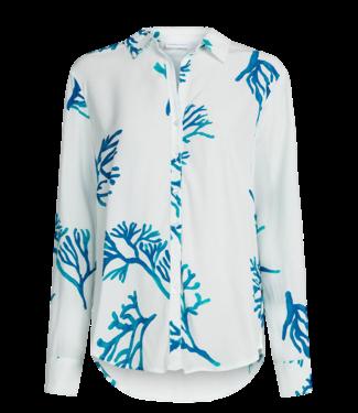 Fabienne Chapot Fabienne Chapot Lily Blouse Off-White Turqoise Garden