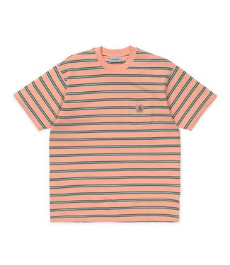 Carhartt Carhartt S/S Houston Pocket T-Shirt Houston Stripe Peach