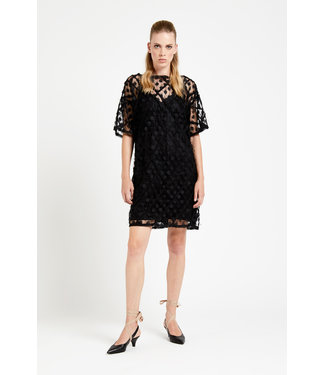 Ottod'ame Ottod'ame Abito Dress LGO DA3551 Black---