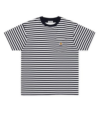 Carhartt Carhartt S/S Barkley Pocket Shirt Stripe Navy