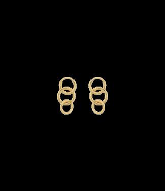 Anna + Nina Anna+Nina 19-1M902019GP Multi Eden Ring Earring Goldplated