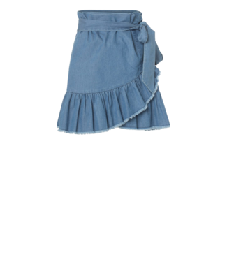 Fine Nora Skirt Blue Denim