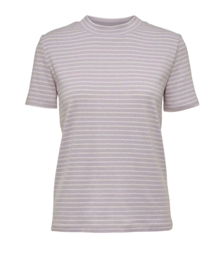 Norr Norr Rita S/S Tee Lilac Stripe