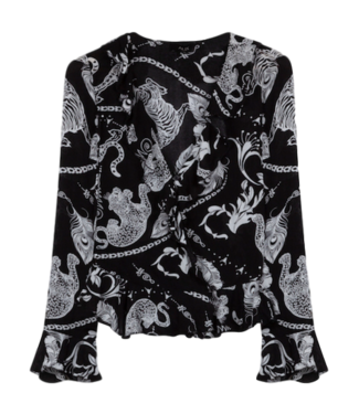 Alix Alix Woven Graphic Animal Blouse