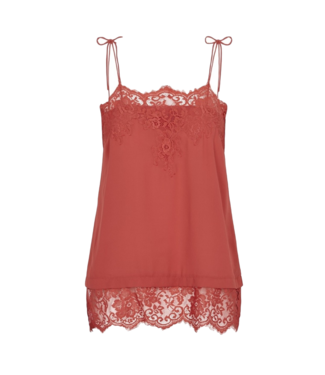 Just Female Just Female Spencer Singlet Top Cranberry Red