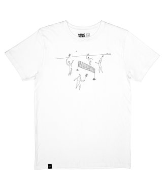 Dedicated Dedicated T-shirt Stockholm Badminton White