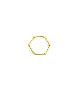 Wildthings Wildthings Hexagon Stacking Ring Gold