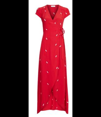Fabienne Chapot Fabienne Chapot Archana Embroidery Dress Romance Red/Pink