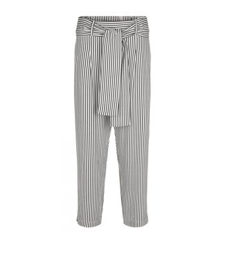 Just Female Just Female Beach Trousers Green White Stripe