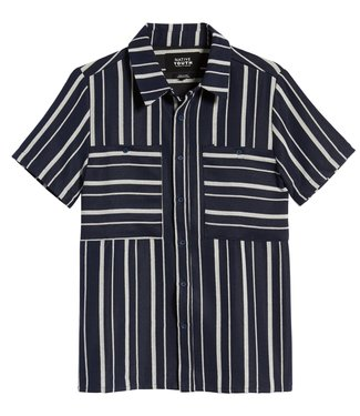 Native Youth Native Youth Men Glover Shirt Navy