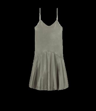Alix Alix Ladies Woven Satin Slip Dress Pale Army