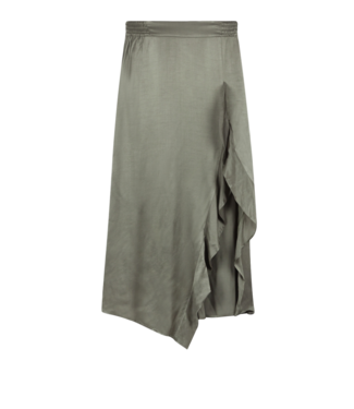 Alix Alix Ladies Woven Satin Skirt Pale Army