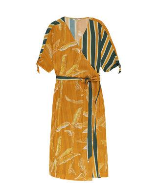10 Feet 10 Feet Wrap Around Dress With Mix & Match Print Amber