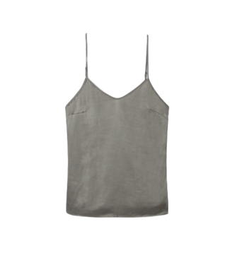 Alix Alix Woven Satin Singlet Pale Army