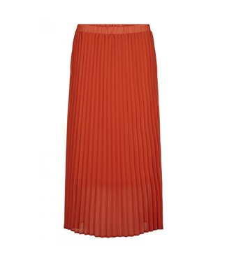 Just Female Just Female Moe Pleated Skirt Burt Orange