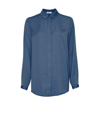 Moss Copenhagen Moss Copenhagen Blair Seasonal Polysilk Shirt Insignia Blue