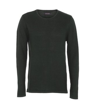 Clean Cut Copenhagen Clean Cut Copenhagen Aberdeen Crew Neck Dark Green Mel