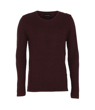 Clean Cut Copenhagen Clean Cut Copenhagen Aberdeen Crew Neck Bordeaux Melange