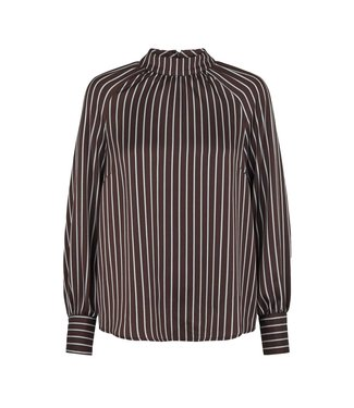 Just Female Just Female Rosie Blouse Shirts Pearl Coffee Stripe