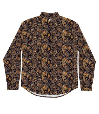 Dedicated Dedicated Shirt Varberg Bold Paisley Navy