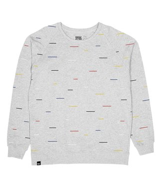 Dedicated Dedicated Sweatshirt Malmoe Color Lines Grey Melange