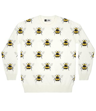 Dedicated Dedicated Sweater Mora Bumblebees Off White