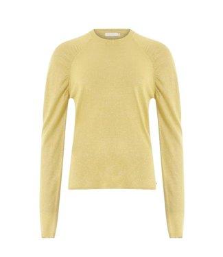 Coster Copenhagen Coster Copenhagen Knit In Lurex Volume At Shoulder Light Yellow 196-2509