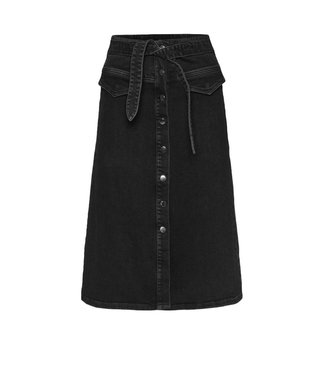 Norr Norr Ofelia Denim Skirt Black Denim