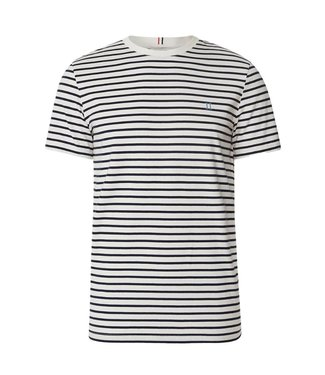 Les Deux Les Deux Sailor Stripe T-shirt Off White Navy Sky Blue