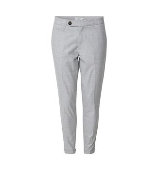 Les Deux Les Deux Como Check Suit Pants Grey Melange Off White