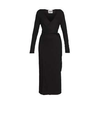 Just Female Just Female Edda Wrap Dress Black