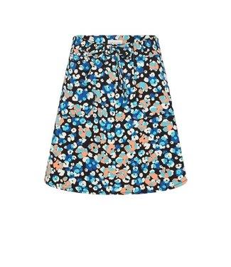 Fabienne Chapot Fabienne Chapot Harry Skirt Black/Riviera Blue Leopard
