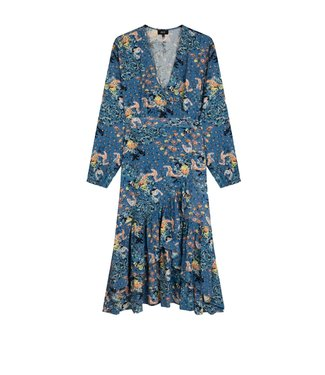 Alix Alix Western Flower Long Dress Sapphire Blue