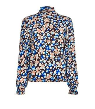 Fabienne Chapot Fabienne Chapot Billy Turtleneck Black/Riviera Blue Leopard Blossom