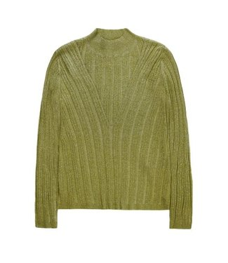 10 Feet 10 Feet Body Hugging Pullover With Kneedling Details Moss