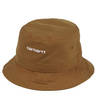 Carhartt Carhartt Script Bucket Hat Hamilton Brown/White