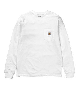 Carhartt Carhartt L/S Pocket T-shirt Single Jersey White