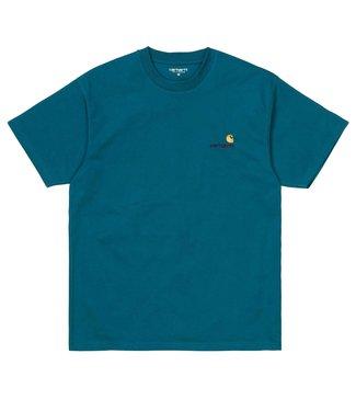 Carhartt Carhartt S/S American Script T-shirt Moody Blue