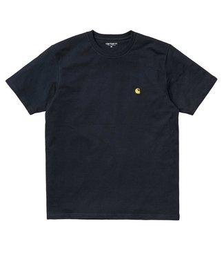 Carhartt Carhartt S/S Chase T-shirt Combed Dark Navy / Gold