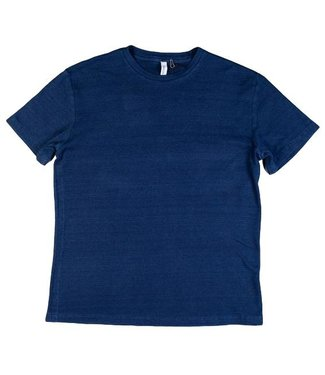 Denim Lab Denim Lab Crew Tee Structure Knit Indigo D1