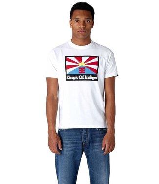 Kings of Indigo Kings Of Indigo Darius Rising Sun Flag Tee S/S White