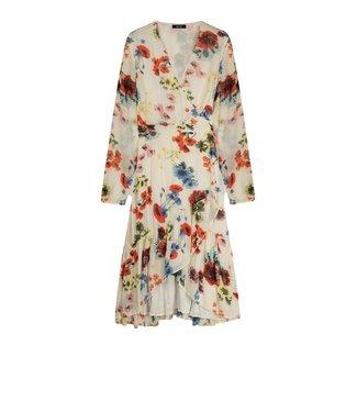 Alix Alix Ladies Woven Flower Chiffon Dress Soft White